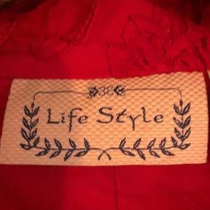 Sonoma Jackets & Coats - Sonoma- Life Style Cotton Red Jacket, Sz L